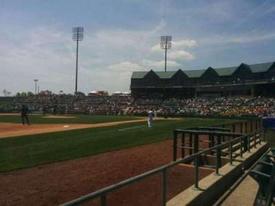 TD Bank Ballpark, vak: 120, rij: b, stoel:  3
