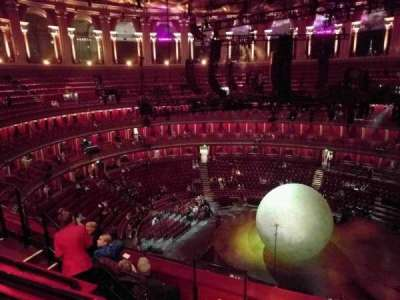 Royal Albert Hall, vak: Circle X, rij: 5, stoel: 219