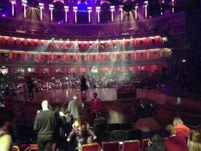 Royal Albert Hall, vak: Stalls M, rij: 6, stoel: 118