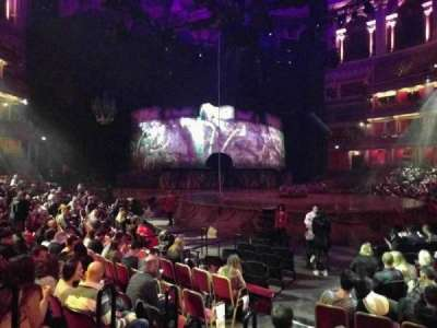 Royal Albert Hall, vak: Stalls J, rij: 7, stoel: 56