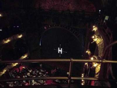 Palace Theatre (West End), vak: Balcony, rij: b, stoel: 2