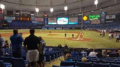 Tropicana Field, vak: 105, rij: 18, stoel: 1