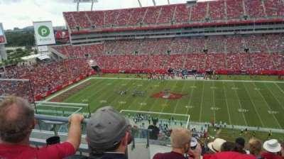 Raymond James Stadium, vak: 337, rij: F, stoel: 5