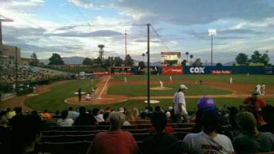Cashman Field, vak: E20, rij: C, stoel: 3