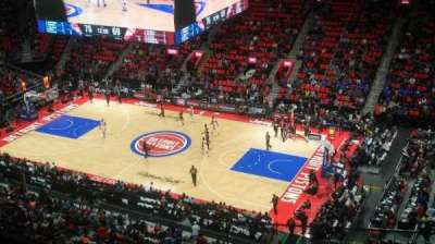 Little Caesars Arena, vak: 209, rij: 3, stoel: 10