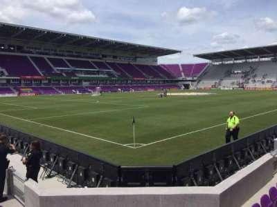 Orlando City Stadium, vak: 1, rij: F, stoel: 17