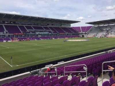Orlando City Stadium, vak: 1, rij: L, stoel: 7
