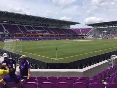 Orlando City Stadium, vak: 1, rij: G, stoel: 18