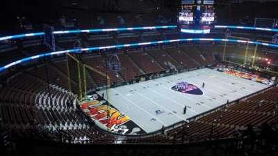 Honda Center, vak: 439, rij: N, stoel: 8