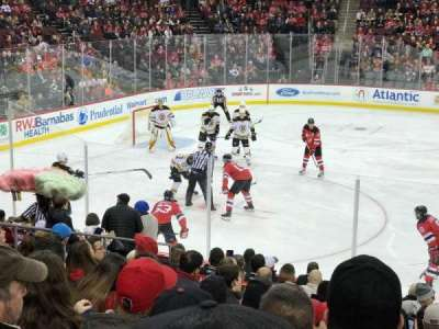 Prudential Center, vak: 7, rij: 13, stoel: 10