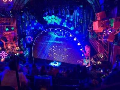 Palace Theatre (Broadway), vak: Rear Mezzanine, rij: J, stoel: 2