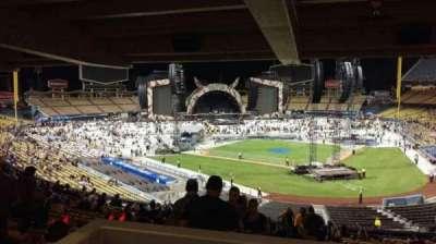 Dodger Stadium, vak: 111LG, rij: W, stoel: 4