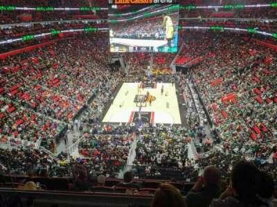 Little Caesars Arena, vak: M2, rij: 4, stoel: 20