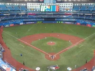 Rogers Centre, vak: 524BR, rij: 1, stoel: 5