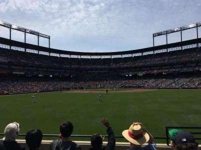 Oriole Park at Camden Yards, vak: 92, rij: 5, stoel: 2