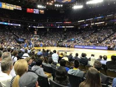 Oracle Arena, vak: 13, rij: A4, stoel: 7
