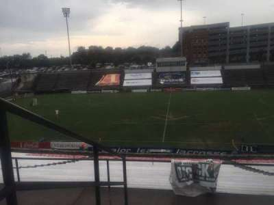 American Legion Memorial Stadium, vak: 1, rij: FF, stoel: 10