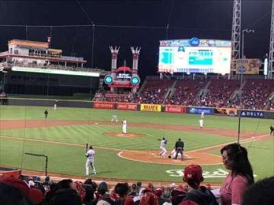 Great American Ball Park, vak: 121, rij: BB, stoel: 103