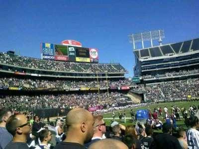 Oakland Alameda Coliseum, vak: 128, rij: 10, stoel: 7
