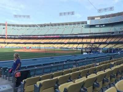 Dodger Stadium, vak: 39FD, rij: E, stoel: 1