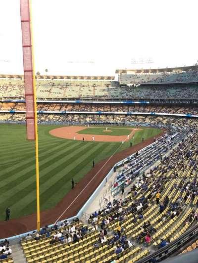 Dodger Stadium, vak: 255 CLUB, rij: A, stoel: 1