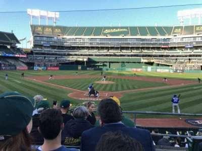 Oakland Alameda Coliseum, vak: 117, rij: 17, stoel: 1