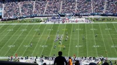 Lincoln Financial Field, vak: 202, rij: 26, stoel: 25
