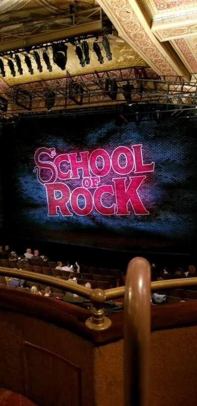 Winter Garden Theatre, vak: Mezz Right, rij: B, stoel: 2