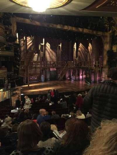 Richard Rodgers Theatre, vak: Orchestra Left, rij: Q, stoel: 25
