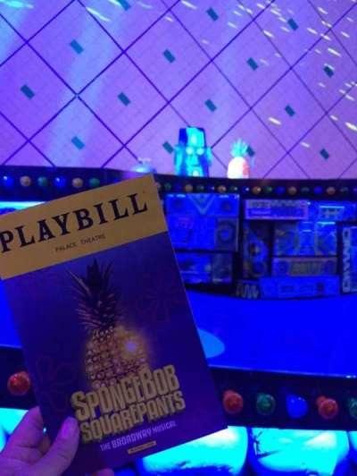 Palace Theatre (Broadway), vak: Orch Center, rij: B, stoel: 101