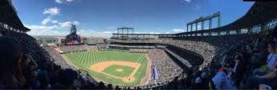 Coors Field, vak: U333, rij: 15, stoel: 10