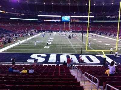 The Dome at America's Center, vak: 101, rij: U, stoel: 2