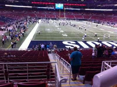 The Dome at America's Center, vak: 102, rij: AA, stoel: 1