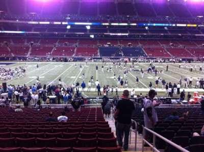 The Dome at America's Center, vak: 115, rij: U, stoel: 2
