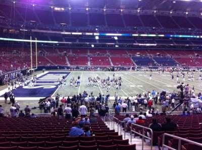The Dome at America's Center, vak: 118, rij: U, stoel: 2