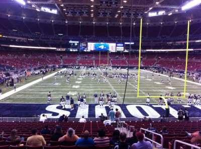 The Dome at America's Center, vak: 128, rij: U, stoel: 2
