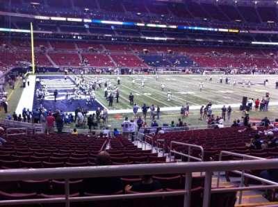 The Dome at America's Center, vak: 147, rij: U, stoel: 2
