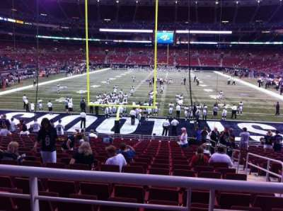 The Dome at America's Center, vak: 154, rij: U, stoel: 2