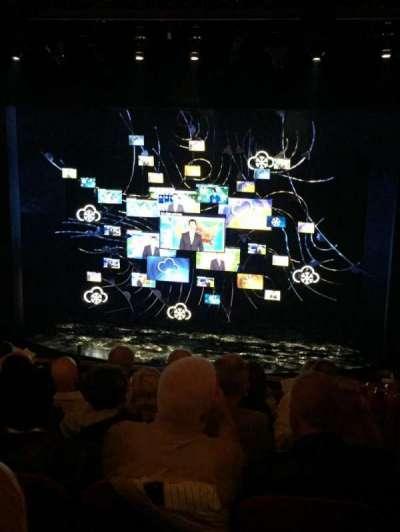August Wilson Theatre, vak: Mezz, rij: G, stoel: 114