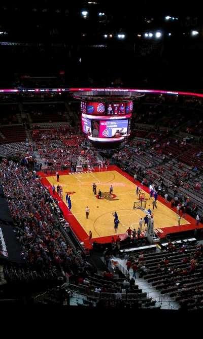 Value City Arena, vak: 333, rij: N, stoel: 10