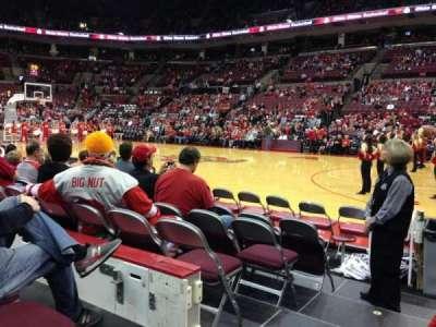 Value City Arena, vak: 104, rij: E, stoel: 21