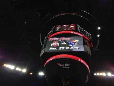 Value City Arena, vak: 105, rij: B, stoel: 19
