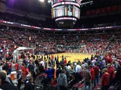 Value City Arena, vak: 110, rij: J, stoel: 11