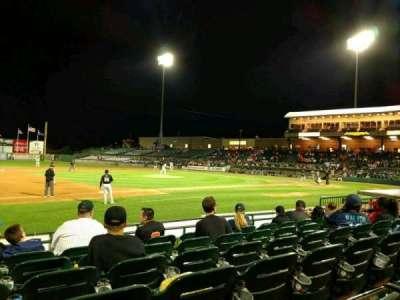 Bethpage Ballpark, vak: 109, rij: H, stoel: 14