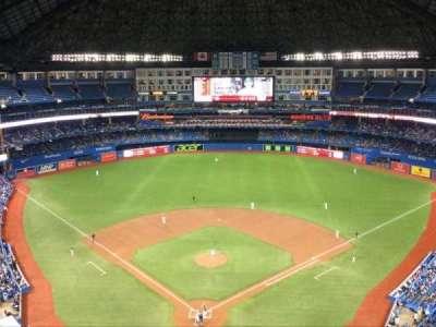 Rogers Centre, vak: 524, rij: 21, stoel: 1