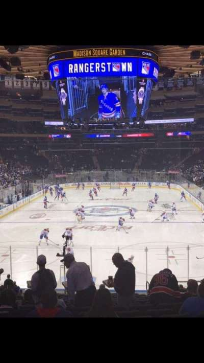 Madison Square Garden, vak: 112, rij: 21, stoel: 19
