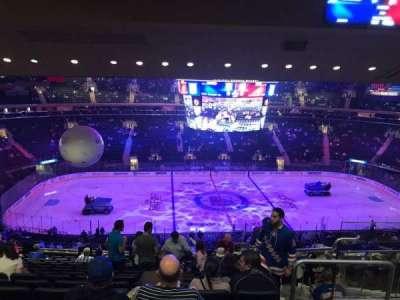 Madison Square Garden, vak: 210, rij: 15, stoel: 17
