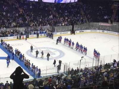 Madison Square Garden, vak: 222, rij: 9, stoel: 6
