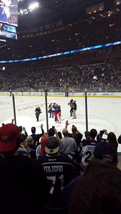 Nationwide Arena, vak: 101, rij: H, stoel: 8