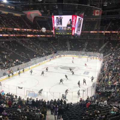 T-Mobile Arena, vak: 103, rij: A, stoel: 6